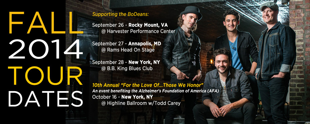 HBA Fall Tour Dates